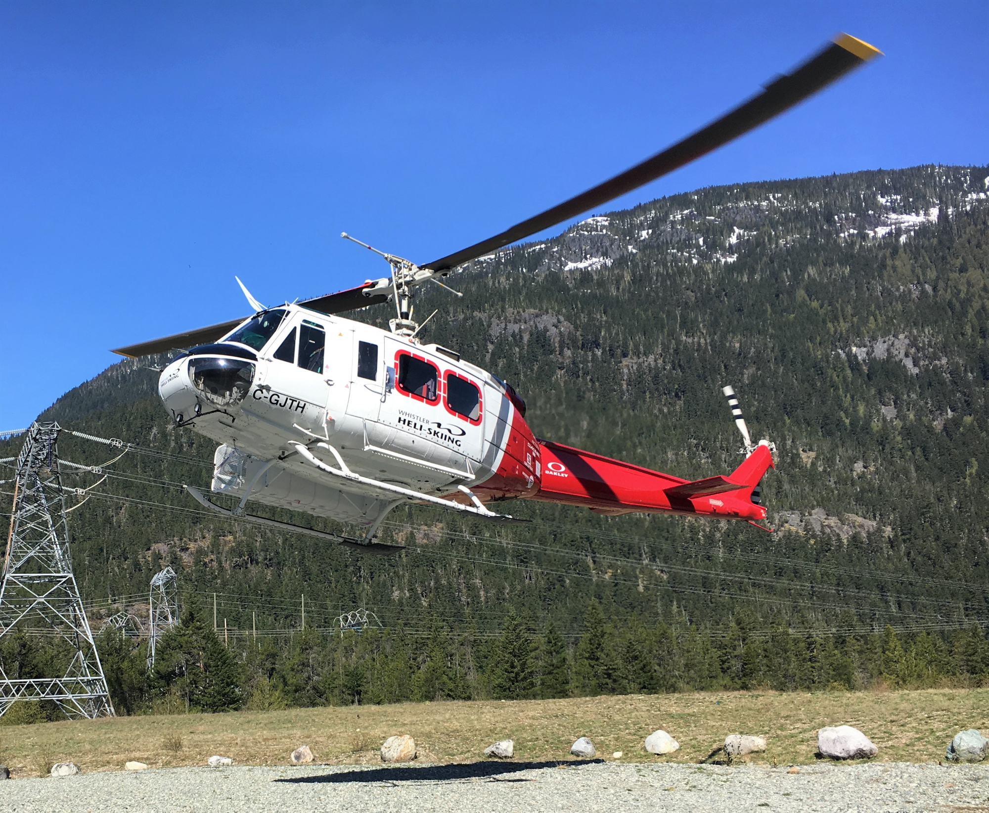 helicopter landing for pickup