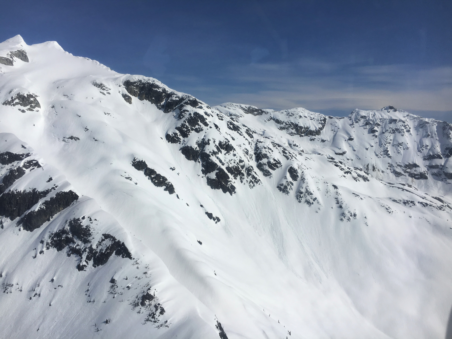 mountain scenery from helicopter ride