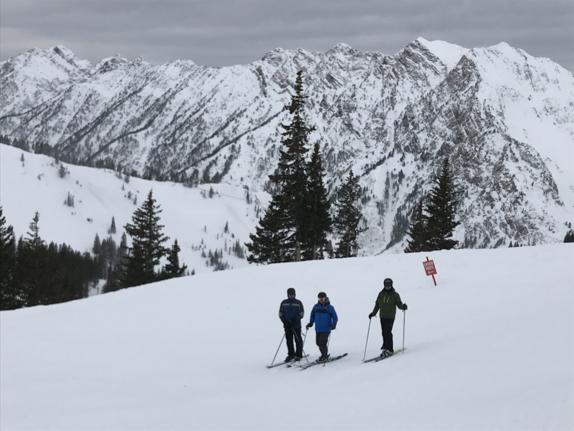 standing around on the slopes of powder mountain