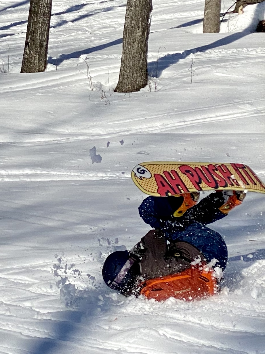 snowboarder wipe out