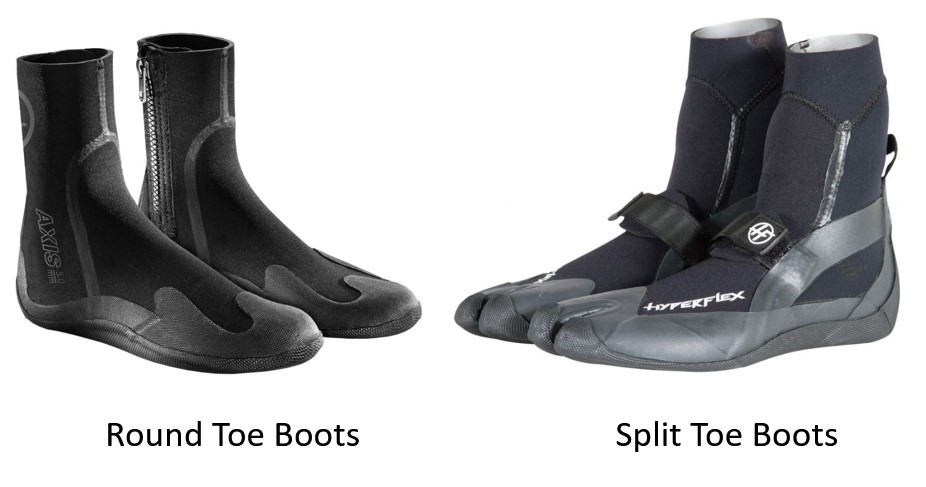 wetsuit boot types