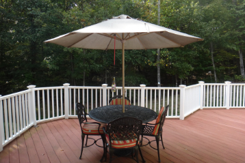 Can you use a propane fire pit on a Trex deck?