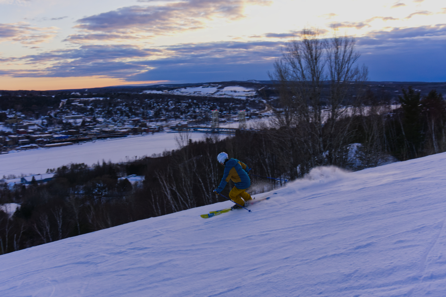 evening skiing at mont ripley