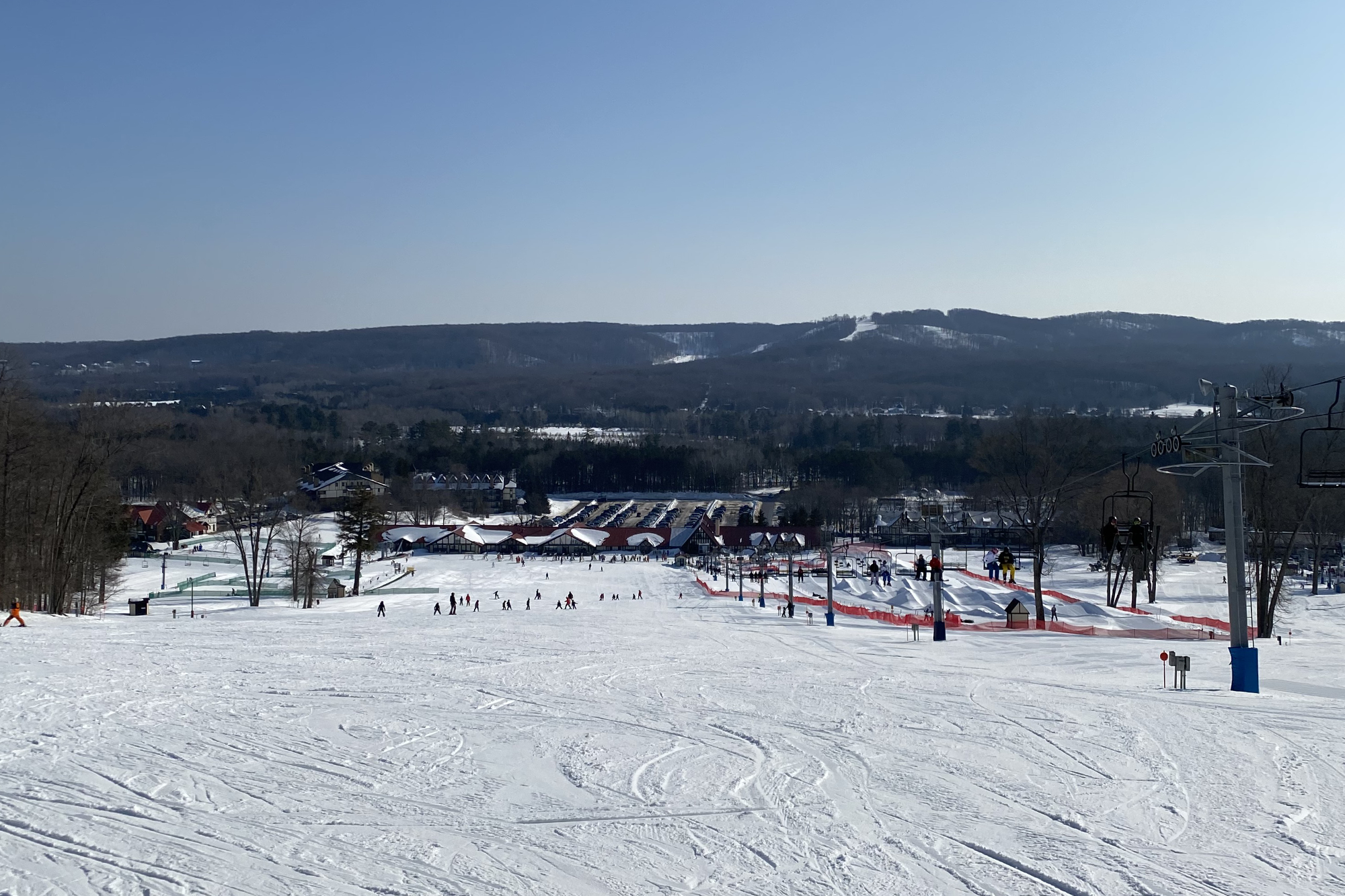 Groomer run at Boyne Highlands
