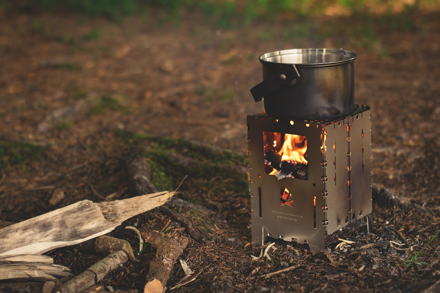 small wood burning camp stove