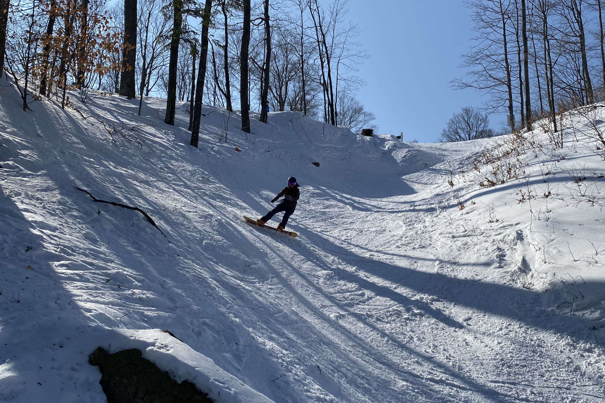 Steep chute at Boyne Highlands
