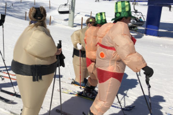 can overweight people ski