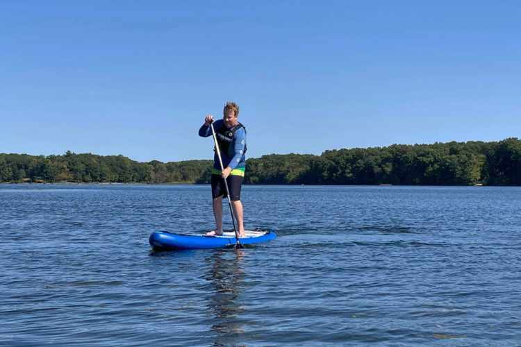 bigger guy on outdoormaster sup