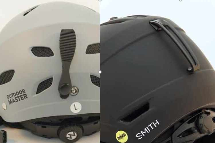 both goggle clips