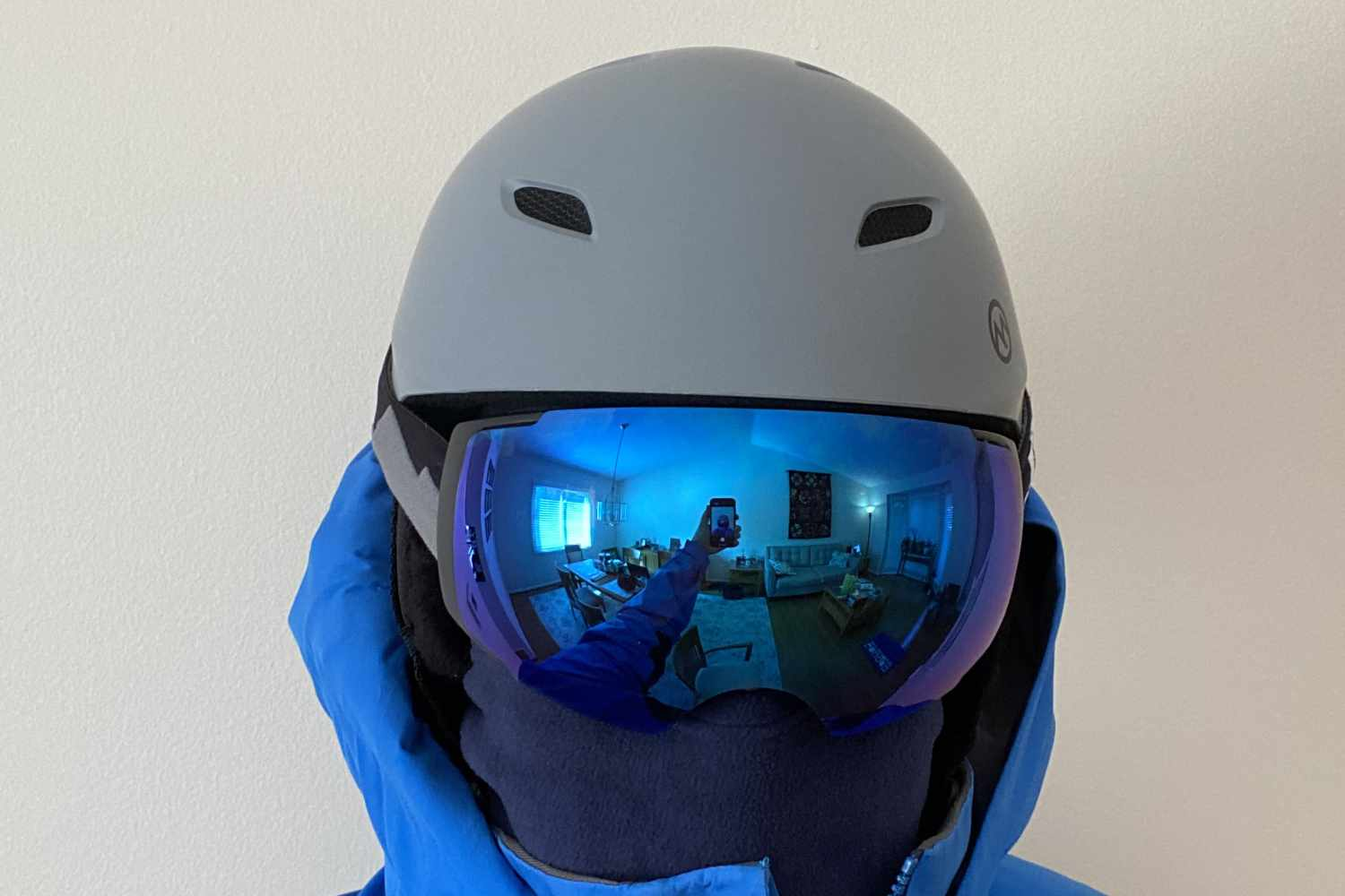 front view with goggles