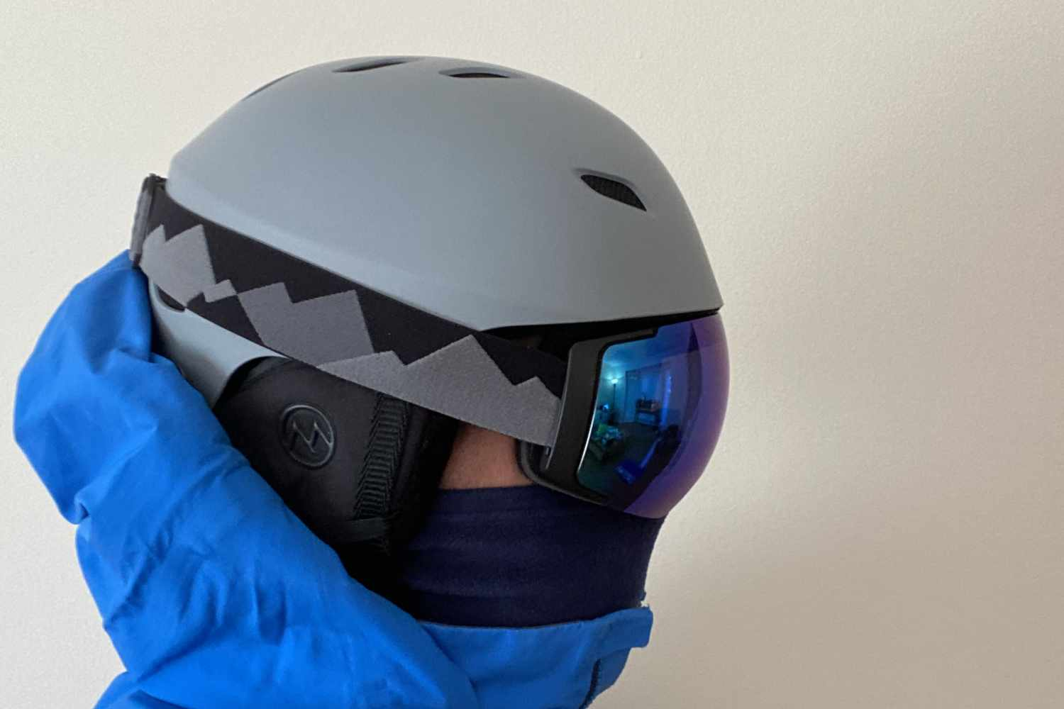 helmet side view with goggles
