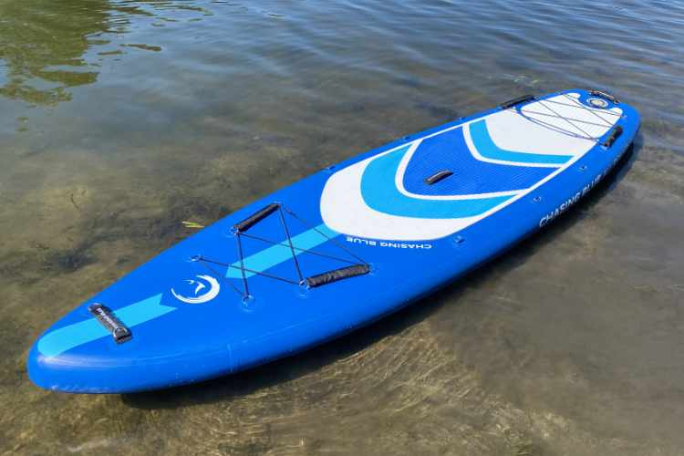 inflated board floating