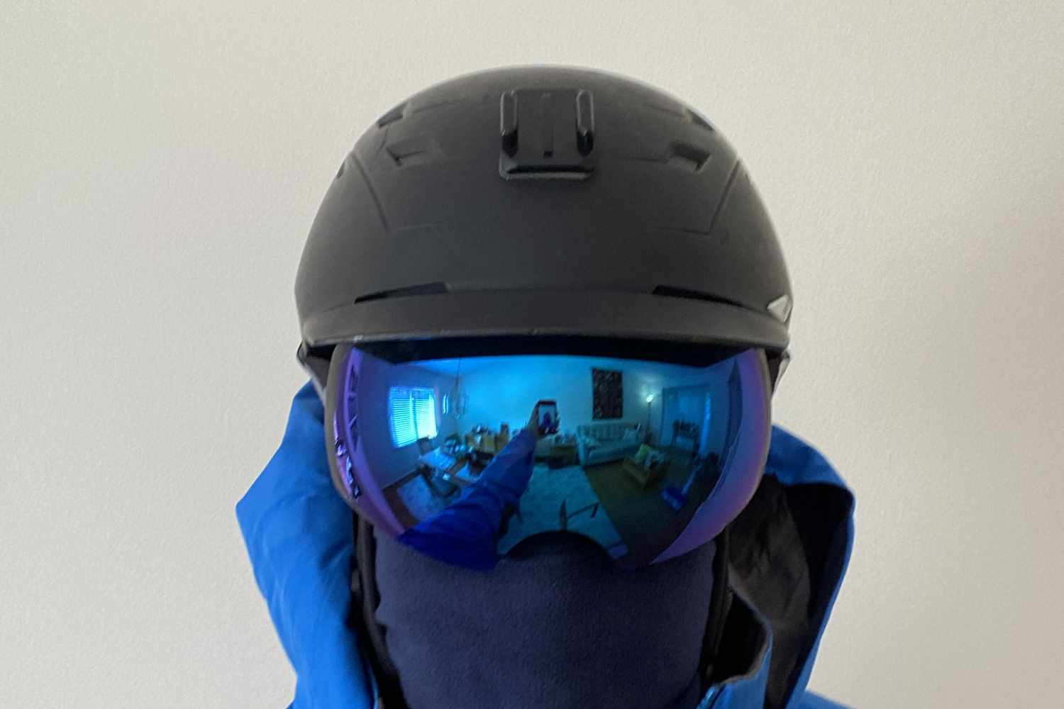 OM goggle smith helmet front view
