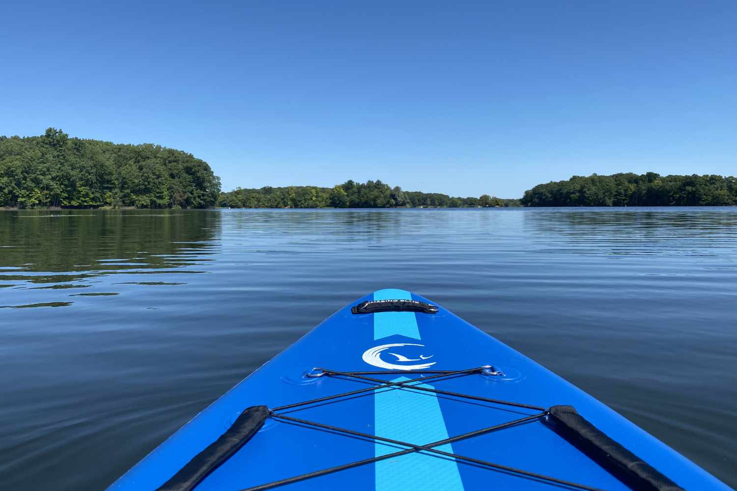 paddleboard on water